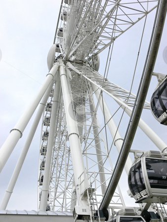 Ferry wheel   stock photo, A giant ferry wheel in an amusement park in Niagara Falls. by Horst Petzold