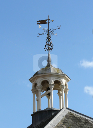 Bell Tower and Weather Vane stock photo, Ornate bell tower and weather vane against lovely Spring blue sky by Helen Shorey