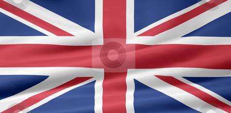 Flag of United Kingdom stock photo, Very large flag of the United Kingdom by Juergen Priewe