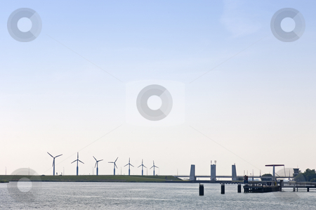 Sluices stock photo, The entrance to the sluices near Enkhuizen, the Netherlands by Corepics VOF