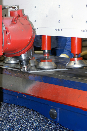 Industrial Grinder stock photo, An industrial grinding bench by Corepics VOF