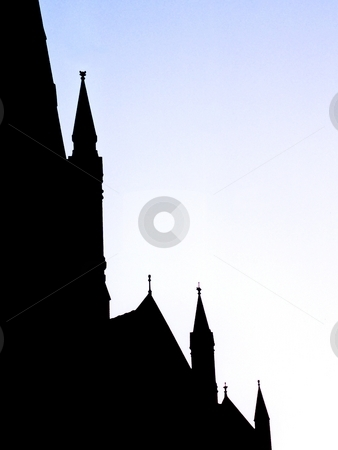 Cathedral Silhouette stock photo,  by Stephen Kerin