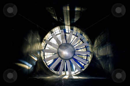 The windtunnel stock photo, The interior of an industrial windtunnel by Corepics VOF
