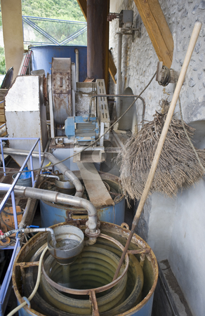 Cooling installation stock photo, The cooling installation, used in the extraction process of herbal essences in a distillery by Corepics VOF