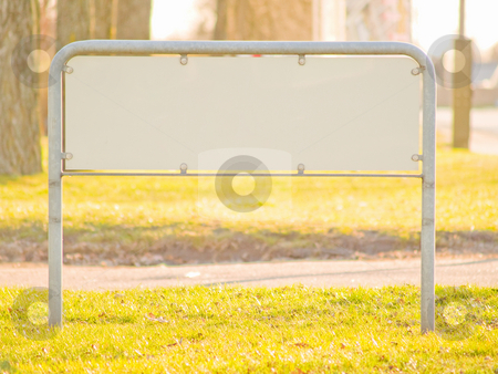 A blank sign with copy space stock photo, A blank sign with lots of copy space by Phillip Dyhr Hobbs