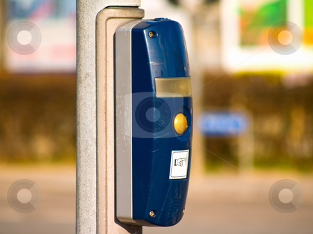 Traffic light button at an intersection in city stock photo, Traffic light button at an intersection in the city by Phillip Dyhr Hobbs