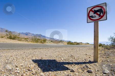 Coyote warning stock photo, Warning sign not to feed the coyotes by Corepics VOF