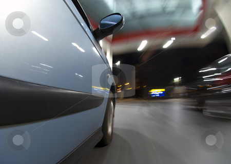 Getting Fuel stock photo, A car, running on empty, driving into a tank station, to get petrol and refuel by Corepics VOF