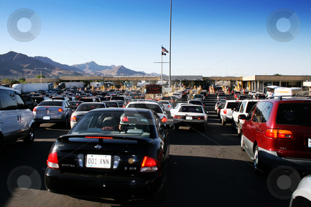 International Cordova Bridge of the Americas stock photo, International Cordova Bridge of the Americas - US border inspection station in El Paso, Texas - Juarez, Mexico. Photo taken 4/21/2009. Editorial use only by iodrakon