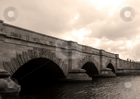 Sepia Bridge stock photo,  by Stephen Kerin