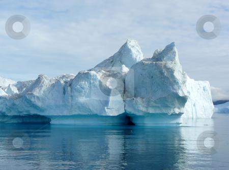 Iceberg 5 stock photo, Large iceberg, looks like it's soon to split. Off the coast of Greenland by Helen Shorey