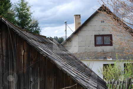 Cottage stock photo, Detail picture of a czech cottage by Sarka
