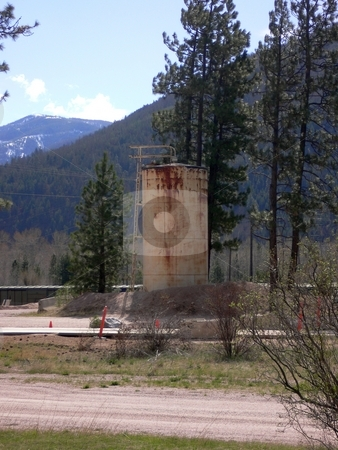 Storage Tank stock photo, Storage tank for gas,oil or maybe water by JJ Havens