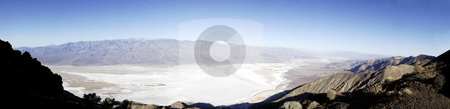 Death Valley from Dante's Peak stock photo, The magnificent view over the salt flats of Death Valley, seen from Dante's Peak at sunrise by Corepics VOF
