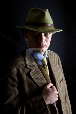 Classic private investigator stock photo, A classic archetype image of a '60's private investigator by Corepics VOF