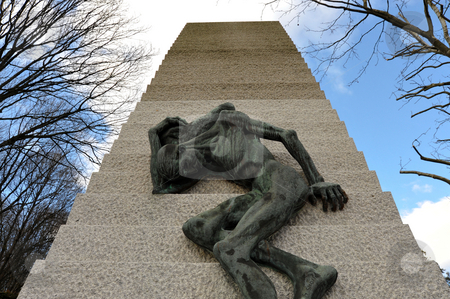 Holocaust memorial stock photo, Holocaust memorial in Pere Lachaise by Jaime Pharr