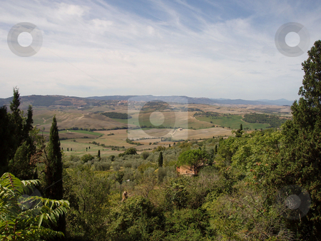 Tuscan vista stock photo, View of Tuscan vista by Jaime Pharr