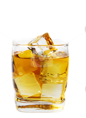 On the rocks stock photo, A full glass of whiskey on the rocks by Steve Mcsweeny