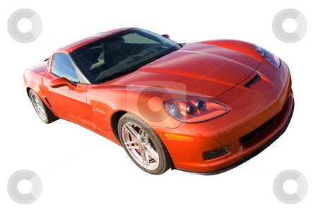 American muscle stock photo, New American muscle car isolated with clipping path by Steve Mcsweeny