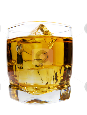 Whiskey drink stock photo, A large glass of whiskey on the rocks by Steve Mcsweeny