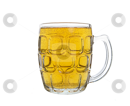 Pint of beer stock photo, A large mug of light ale beer by Steve Mcsweeny