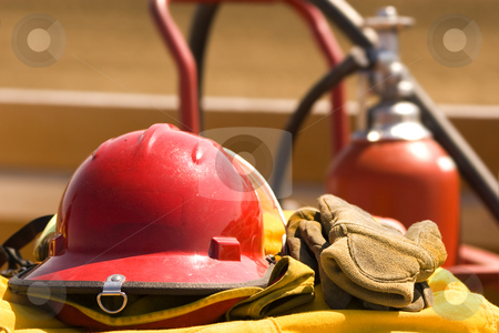 Fire gear stock photo, Firemans safety gear by Steve Mcsweeny