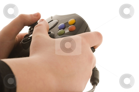 Gaming stock photo, Young boy playing a video game by Steve Mcsweeny