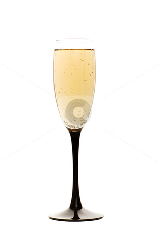 Champagne drink stock photo, Champagne glass isolated on white by Steve Mcsweeny