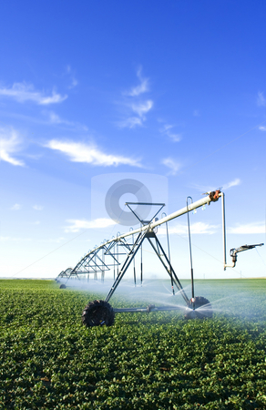 Pivot spray stock photo, Modern farming tool by Steve Mcsweeny