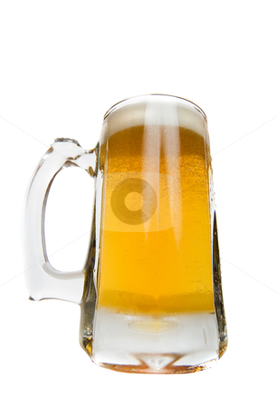 Mug of beer stock photo, A tall frosted mug of beer by Steve Mcsweeny