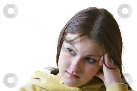 Bored teenager stock photo, Teenage girl with a headache, also looking bored by Steve Mcsweeny