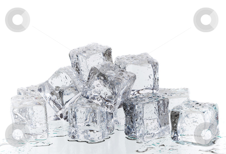 Ice melt stock photo, A bunch of melting ice cubes by Steve Mcsweeny