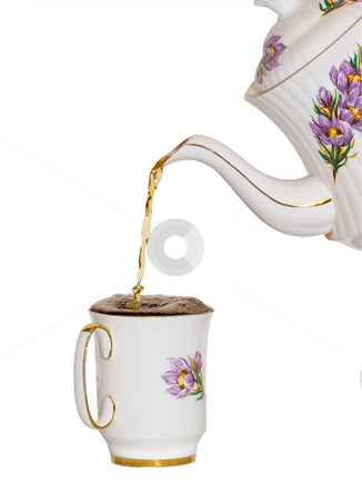 Fill to the brim stock photo, Pouring a cup of tea by Steve Mcsweeny