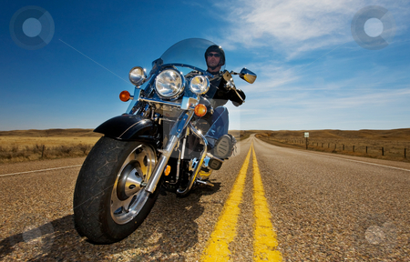 Motorcycle riding stock photo, A biker enjoying a ride in the country side by Steve Mcsweeny