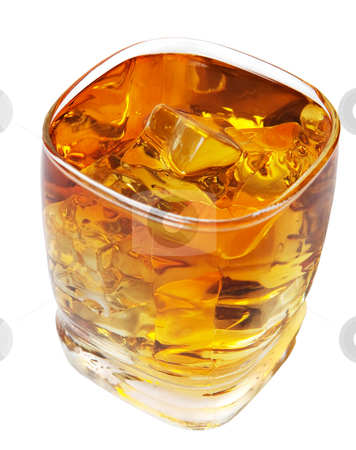 Whiskey with Clipping Path stock photo, Whiskey on the rocks.  Isolated with clipping path. by Brenda Carson