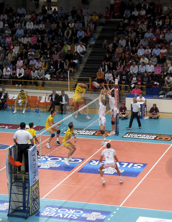 Volleyball - Trentino Volley vs Verona stock photo, Trentino Volley and Verona playing during a game of the Italian Championship by Alessandro Rizzolli