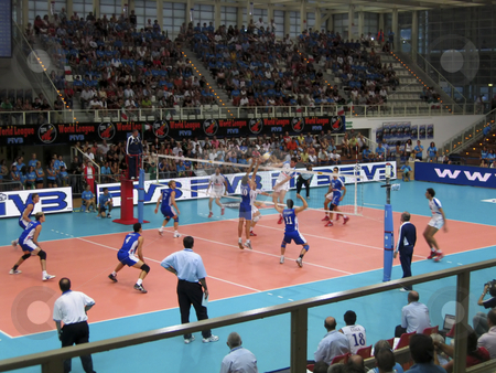 Volleyball World League: Italy vs France stock photo, Italy vs France during a World League game by Alessandro Rizzolli