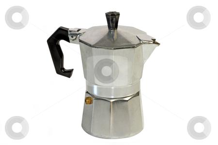 Espresso pot stock photo, An isolated espresso maker on white background by Birgit Reitz-Hofmann