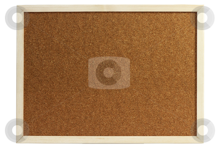 Cork board stock photo, Cork board isolated on white background by Birgit Reitz-Hofmann