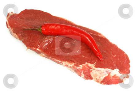 Ribeye steak stock photo, A prime cut of a raw ribeye beef steak. by Birgit Reitz-Hofmann