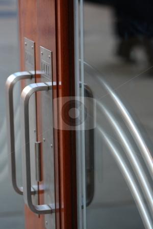 Fancy door stock photo, Doors to a business by Chris Torres