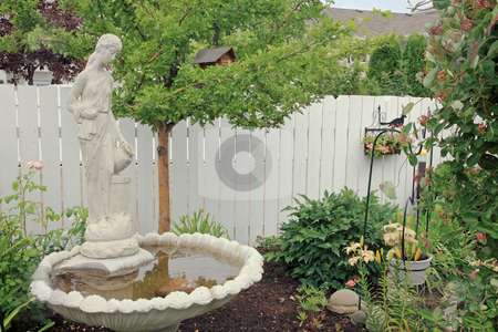 Private Paradise stock photo, A private, pastorial garden created in an urban area. by Brenda Carson