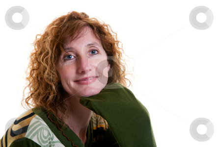Beautiful Fifty Something stock photo, A beautiful, mature fifties something lady with a confident smile. by Brenda Carson