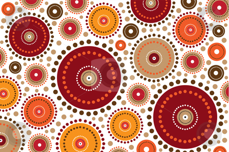 Aboriginal circles stock photo, Aboriginal background circles by Nancy Dunkerley