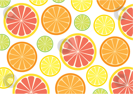 Citrus Fruits stock photo, Citrus fruit background by Nancy Dunkerley