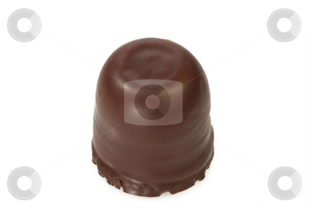 Chocolate marshmallow stock photo, Closeup of a chocolate marshmallow on bright background by Birgit Reitz-Hofmann