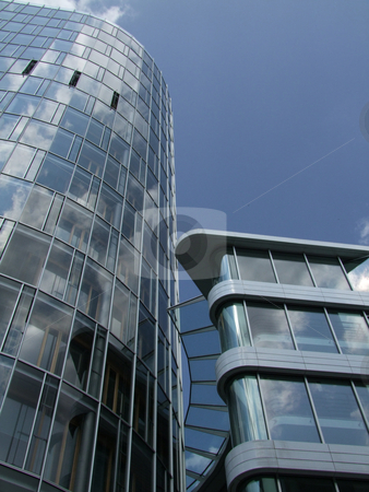 Glass Hi Rise Corporate Office Building stock photo, Modern architecture with glass windows by Birgit Reitz-Hofmann