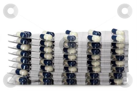 Medicine stock photo, Pills on a bright background. Shot in studio. by Birgit Reitz-Hofmann
