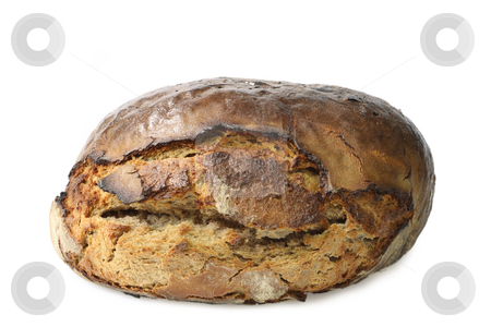 Rye bread stock photo, Unsliced rye bread on bright background by Birgit Reitz-Hofmann