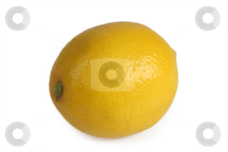 Fresh lemon stock photo, Lemon isolated on white background by Birgit Reitz-Hofmann